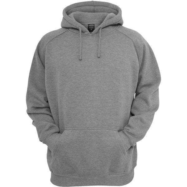 URBAN CLASSICS Plain Hoodie grey Hoodies ( 45) ❤ liked on Polyvore  featuring tops dd6b7cd5a5dcf