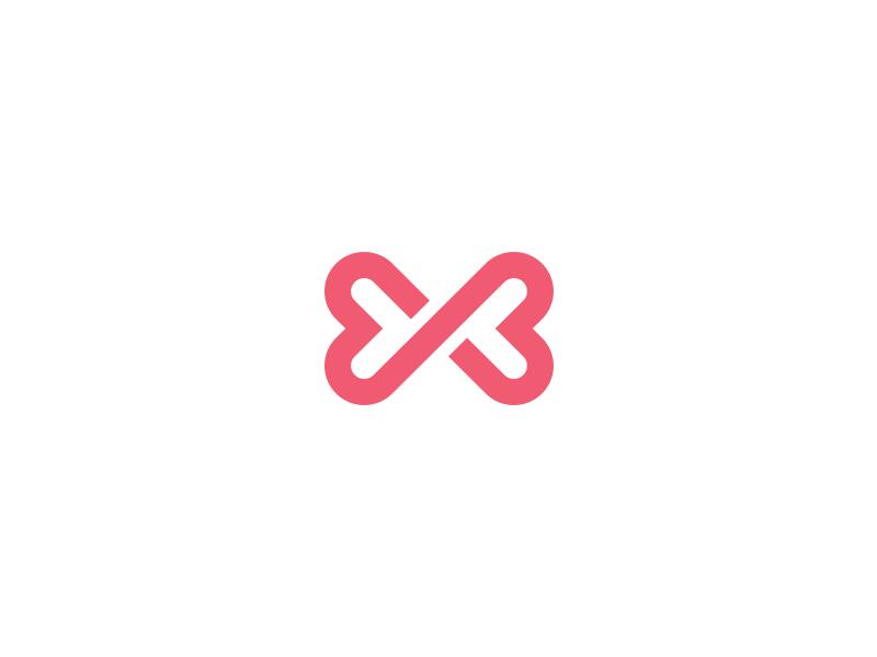 Infinite Love Love Logo Infinite Logo Negative Space Logos