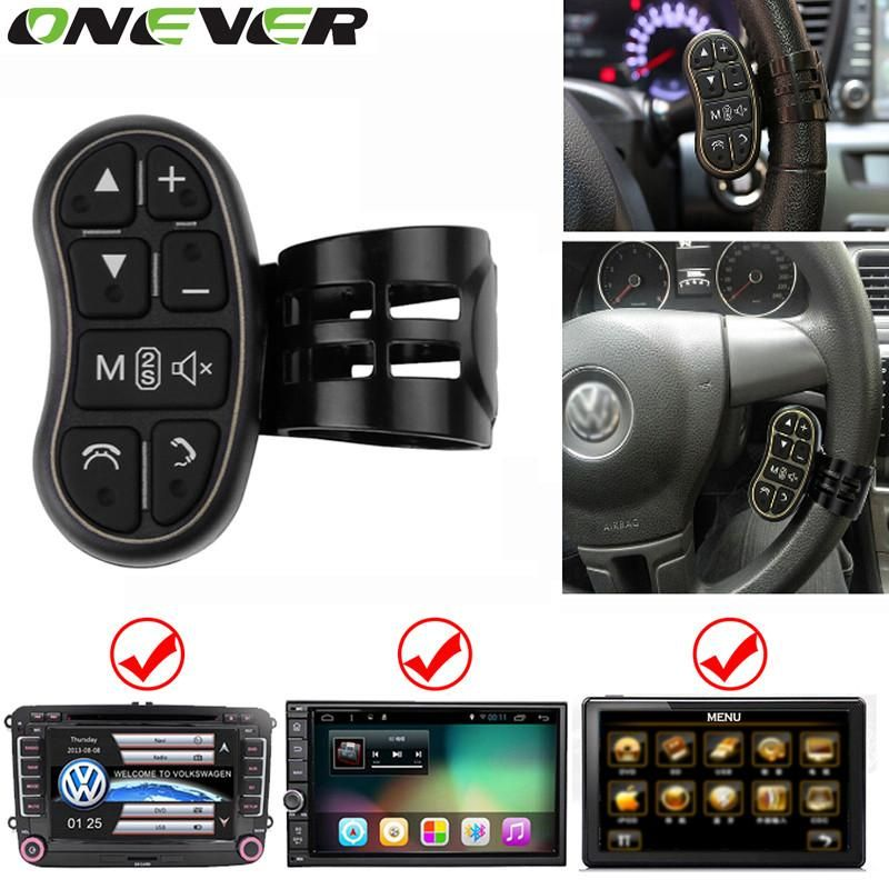 Universal Steering Wheel Button Remote Control w//Cable For Wince Android Player