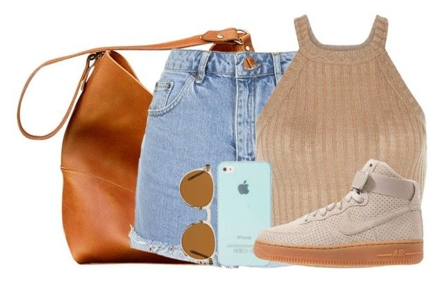 """Sin título #390"" by qdorito ❤ liked on Polyvore featuring Topshop, NIKE and Oliver Peoples"