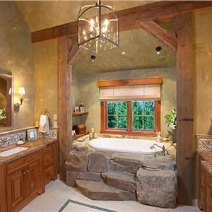 Country rustic country bathroom by lynette zambon Rustic country style bathrooms