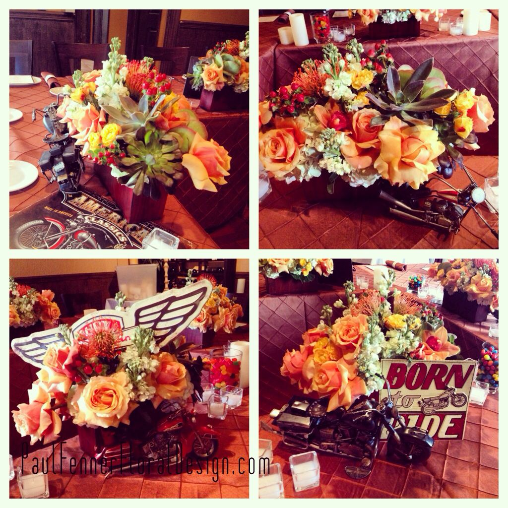 Harley Davidson Party Decorations Birthday Party Centerpieces Harley Davidson Motorcycle Theme