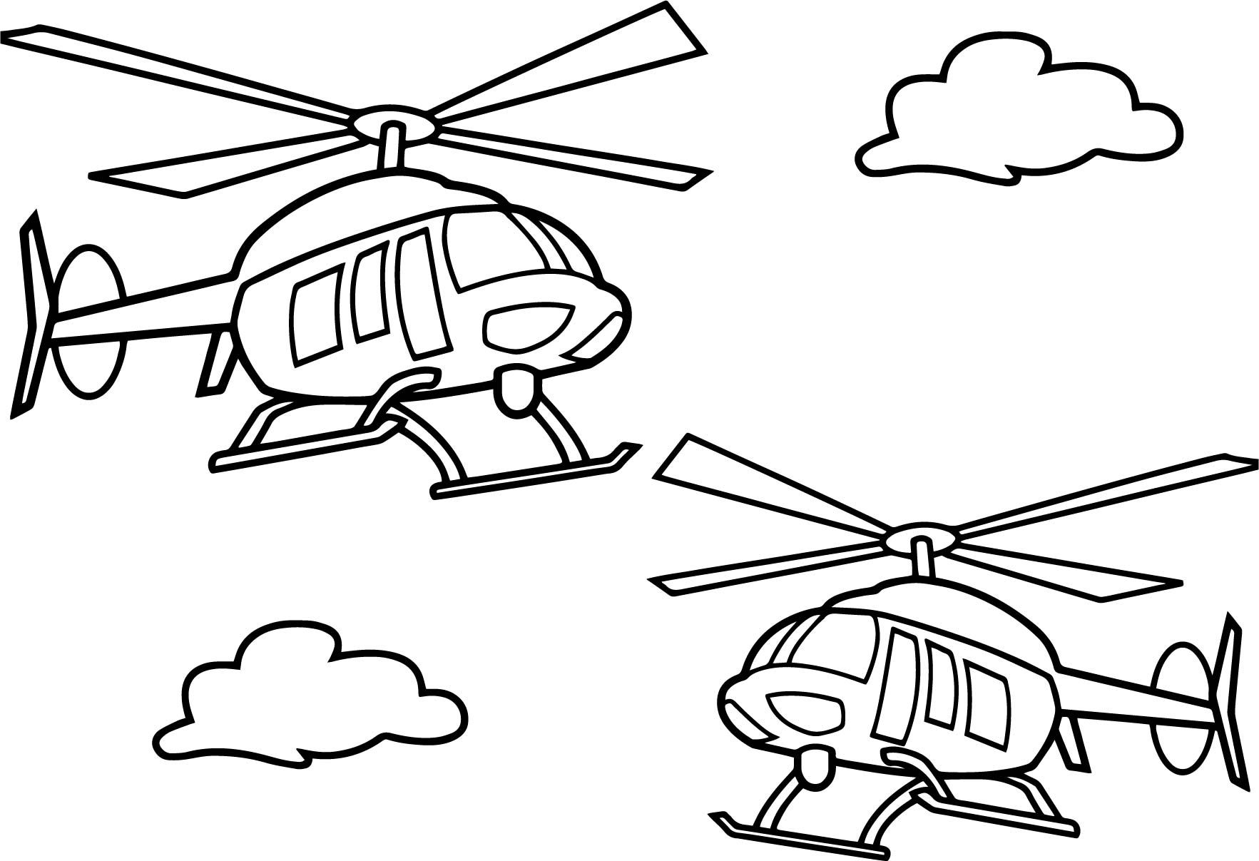 Cool Two Helicopter Coloring Page Helicopter Coloring Coloring Pages Helicopter Coloring Page
