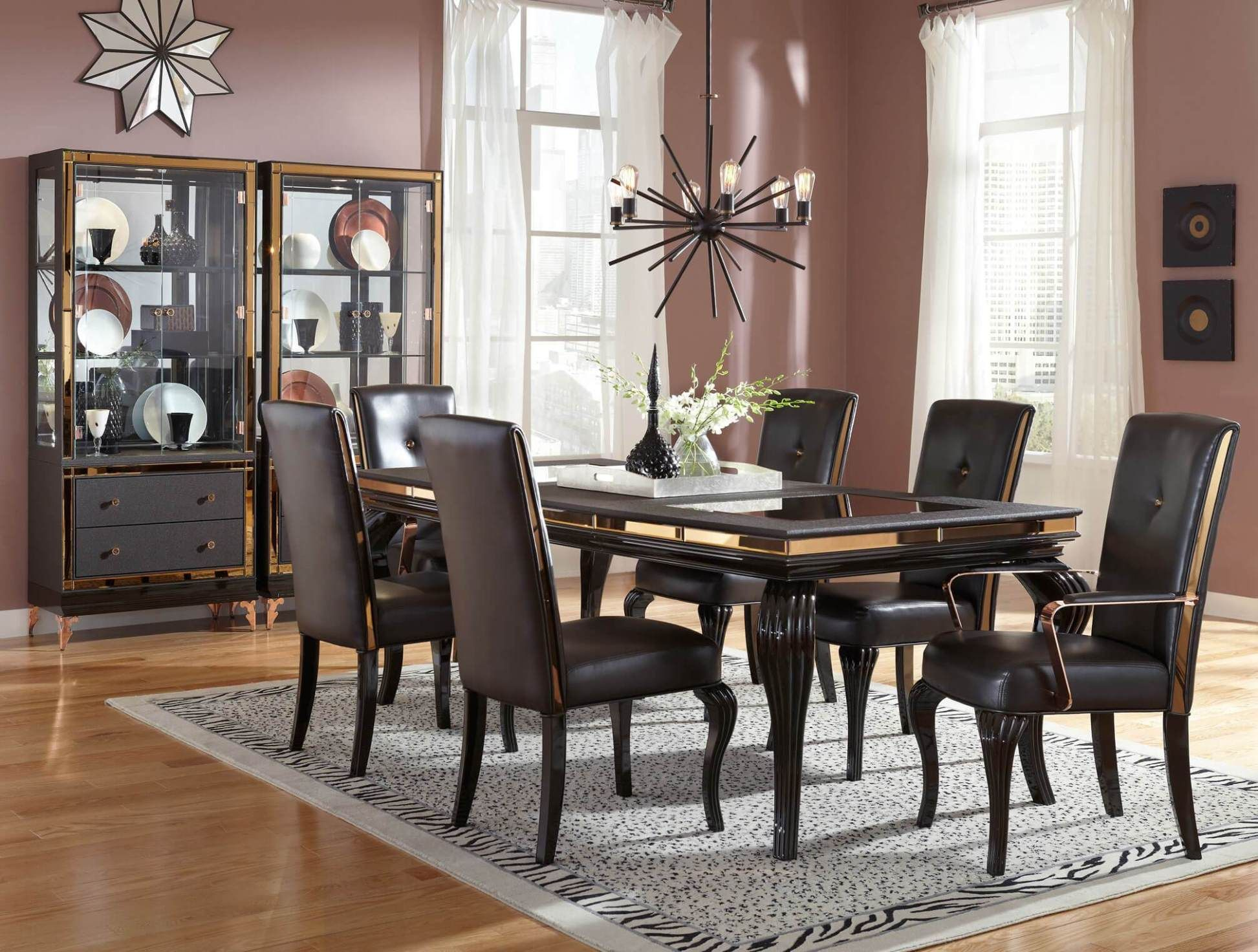 HD-5800 Homey Design Royal Dining Collection Set | Loft ...