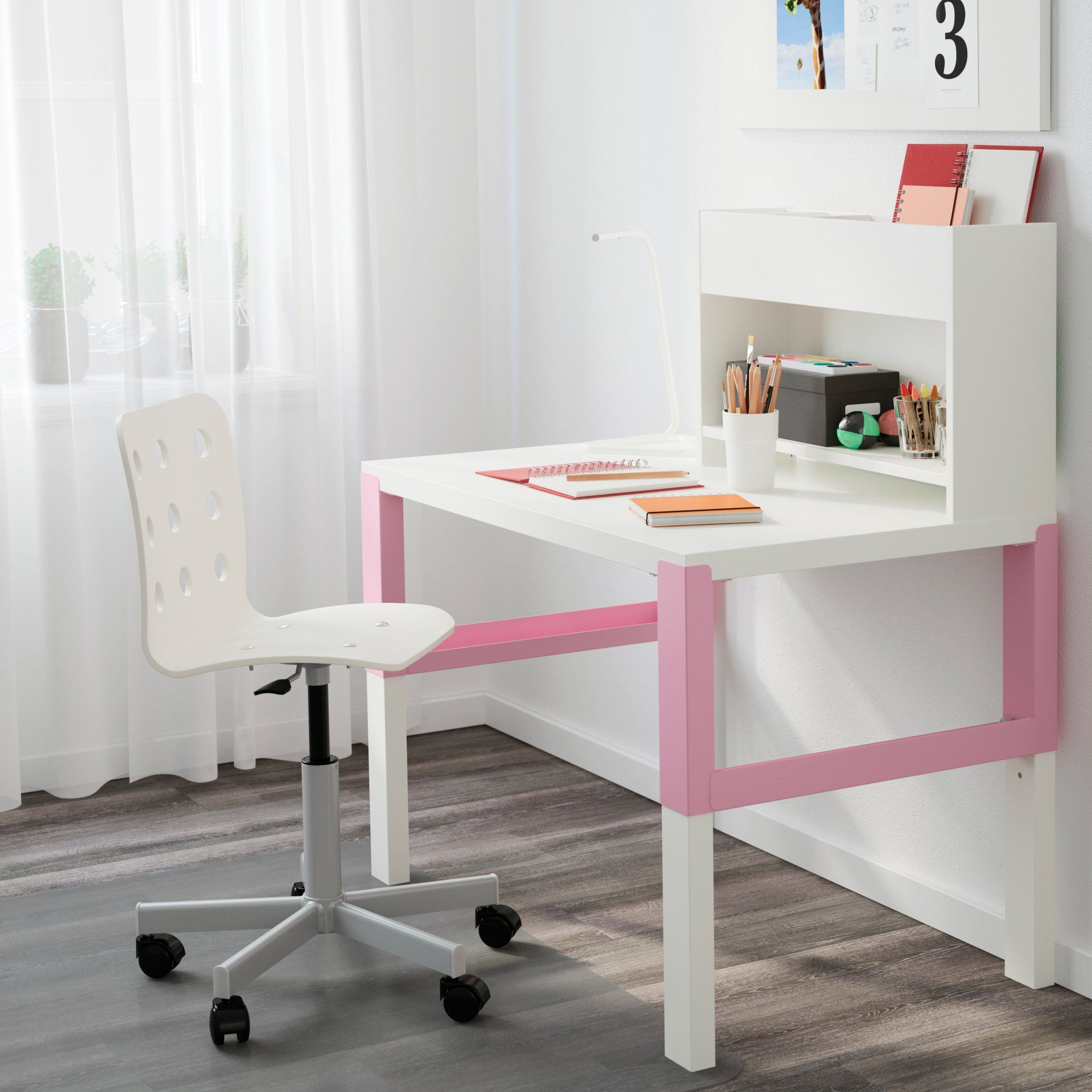 Bureau Special Primaire Petite Fee Blanc Violet Vertbaudet