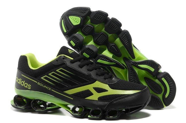 adidas rimbalzare titan 5 v mens nero - verde atletico scarpe da corsa dga