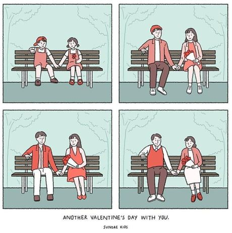 Sweet Illustrations About Love That People In Love Can Relate