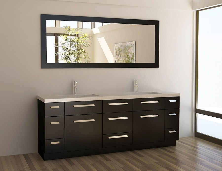 84 Inch Modern Double Sink Bathroom Vanity Set With Images
