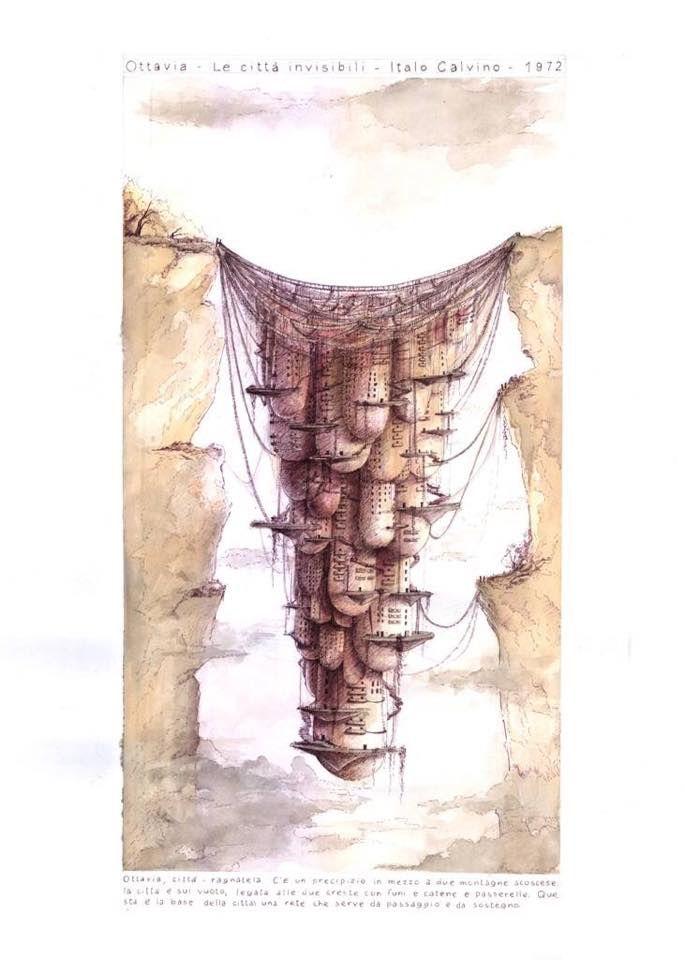 Calvino le citt invisibili disegni del corso di disegno for Disegno del piano di architettura
