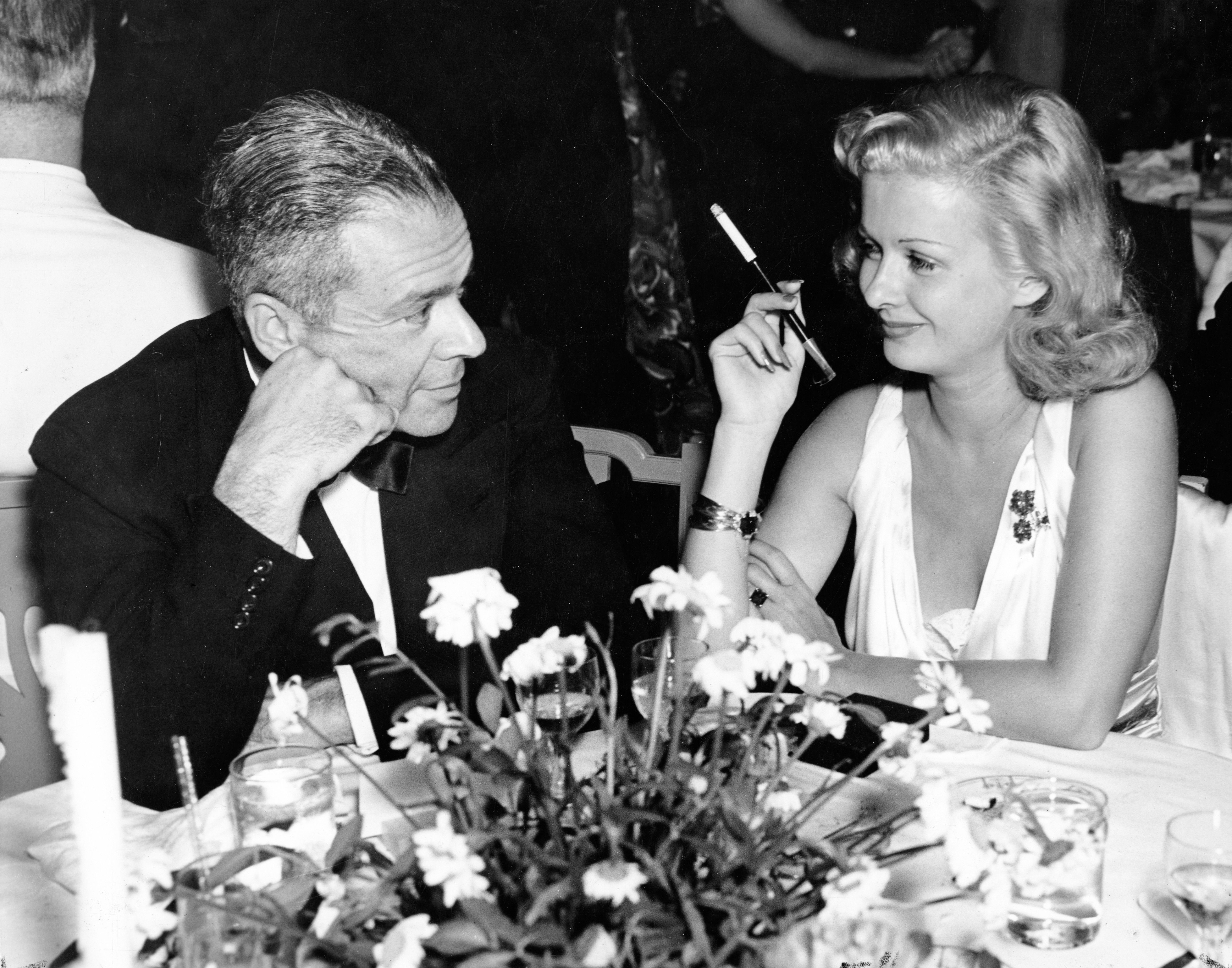 Mayfair Club 1938 Beverly Wilshire Hotel Bh Producer Walter Wanger With Joan Bennett Photo From Marc Wanamaker Bwhist Joan Bennett Bw Photo Wilshire Hotel