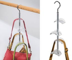 wardrobe handbag storage hook. Will store between four and eight handbags.  finally will see my bags! 4bcd72c6450be