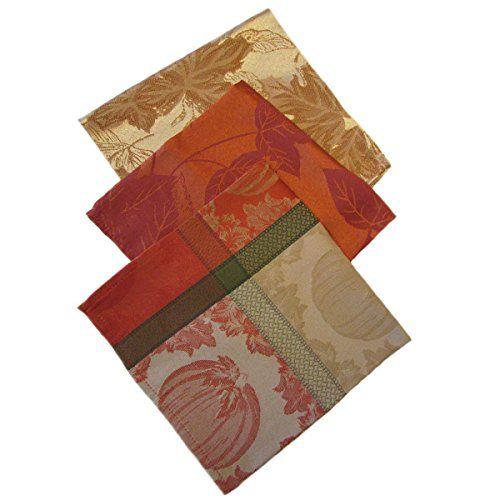 Fall Trio Cloth Dinner Napkins Sets Gold Leaf,Pumpkin Pri... https://www.amazon.com/dp/B01G4JNRKK/ref=cm_sw_r_pi_dp_yNgFxbQ2KQK6K