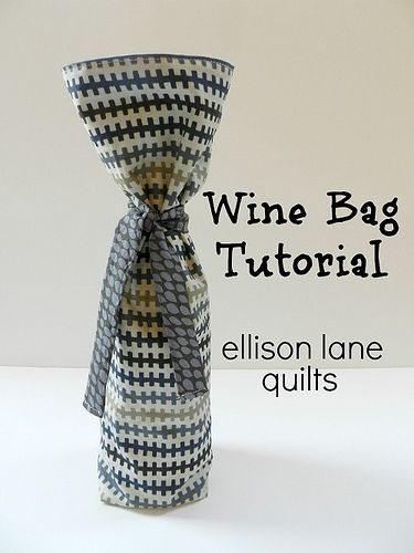 Wine Bag Tutorial Diy Holiday Gifts Tote Bags