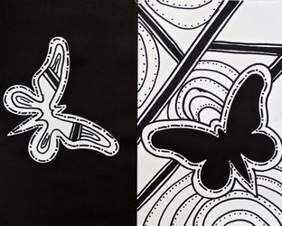 Form And Space In Art : An exploration of positive and negative space using die cut shapes