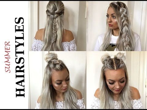 Super Easy Summer Hairstyles Schnelle Und Einfache Sommer Frisuren Youtube Sommerfrisuren Langhaarfrisuren Kurzhaarfrisuren