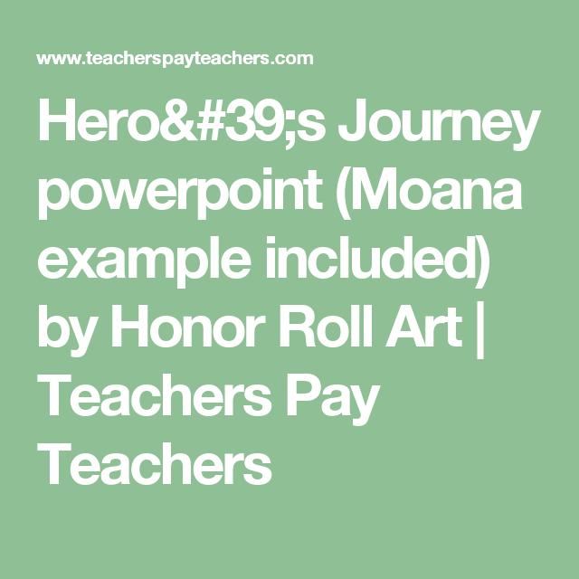 HeroS Journey Powerpoint Moana Example Included  Moana Honor