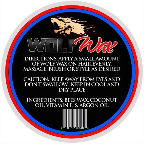 #Wolfwax is made with coconut oil agron oil and vitamin e. Made...