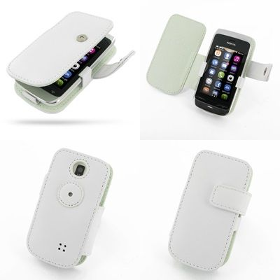 PDair Leather Case for Nokia Asha 308 309 - Book Type ...