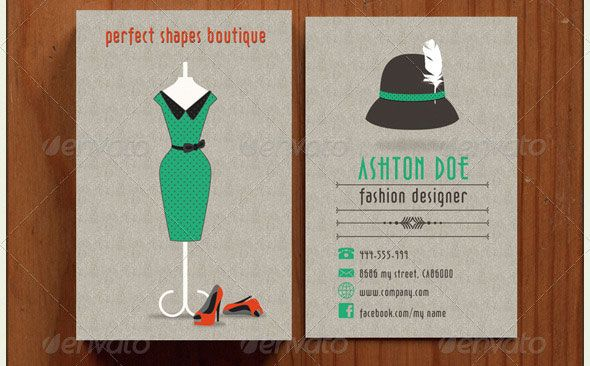 21 Vintage Retro Business Card Templates Fashion Business Cards Graphic Design Cards Retro Business Card