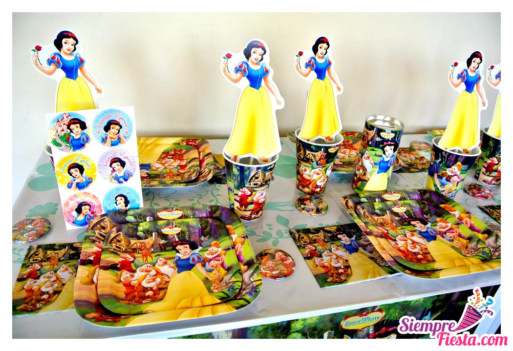 Art culos para fiesta de cumplea os de blancanieves y los - Accesorios de cumpleanos infantiles ...