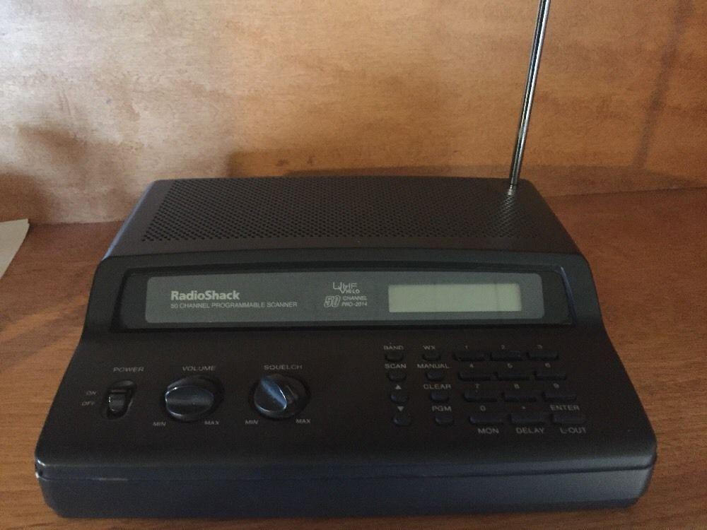 Radio Shack Pro 2014 50 Channel Programmable Scanner UHF V Hi Lo