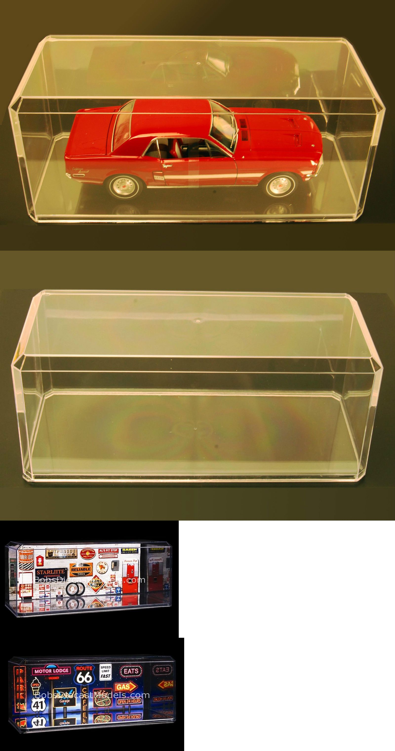 Display Cases and Stands Display Cases 4 W Wooden Base 1