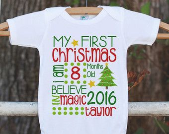 Baby's First Christmas Outfit - First Christmas Onepiece - Baby's ...
