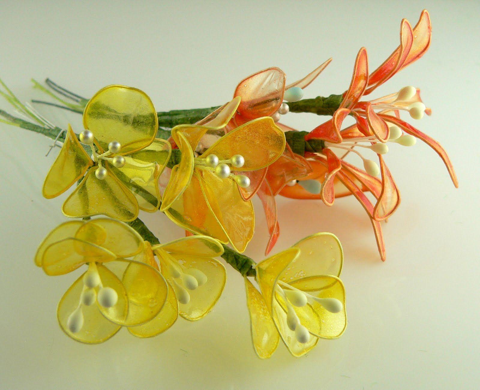 Gelatin flowers bloemen maken van ijzerdraad met