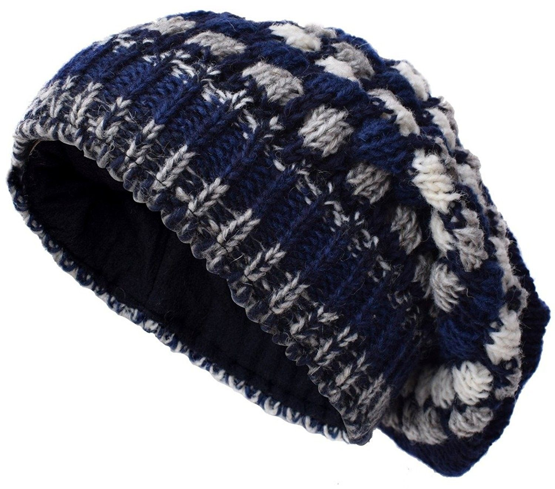 dbfba071 Woolen Knitted Fleece Lined Multicoloured Beanie Hats - W - CB12O7VV7TB -  Hats & Caps, Men's Hats & Caps, Skullies & Beanies #hats #caps #mensstyle  ...