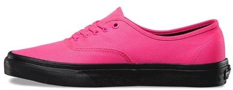 Vans Authentic Black Outsole Neon Pink Ankle High Canvas