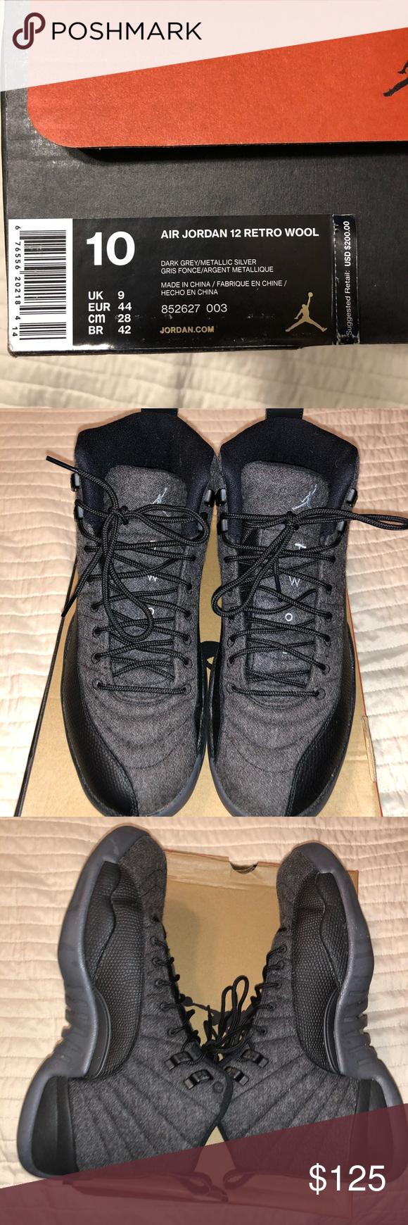 Air Jordan 12's Retro Wool | Air