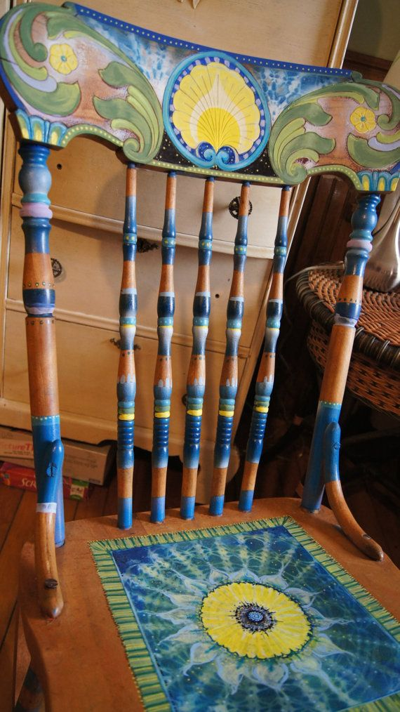 FUNKY handpainted rocking chair by Tatiana by