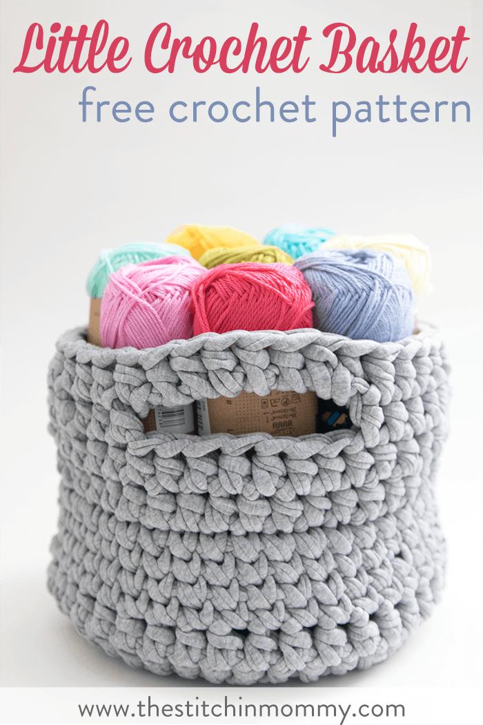 Little Crochet Basket - Free Crochet Pattern | Cuadrados de abuelita ...