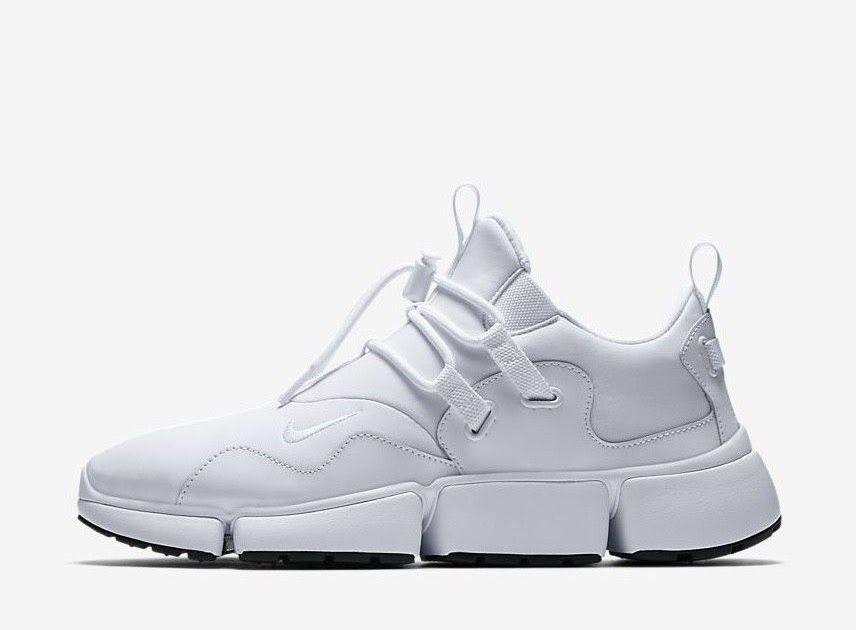 the best attitude a8614 59eeb Nike Pocketknife DM 898033-100 Triple White Mens Sportswear Running Shoes  ...