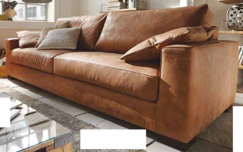 couch cognac leder