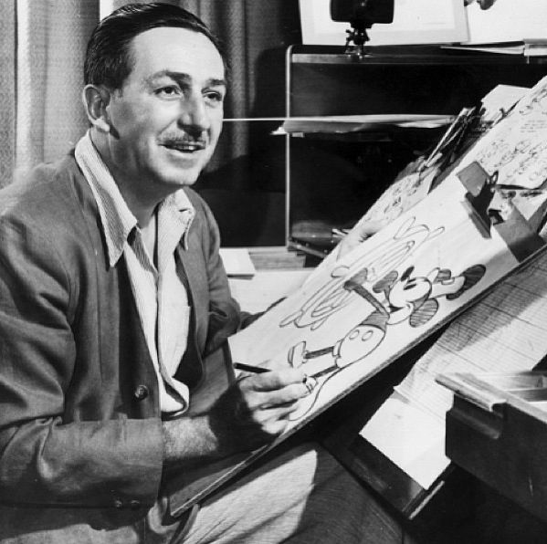 Image result for image of walt disney drawing mickey mouse