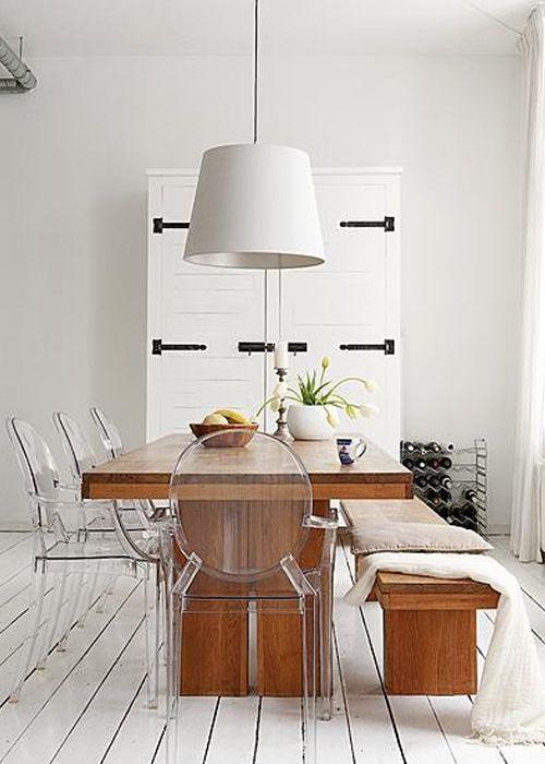 Comedor moderno con mesa y banco inspirados en las mesas for Banco para mesa de comedor