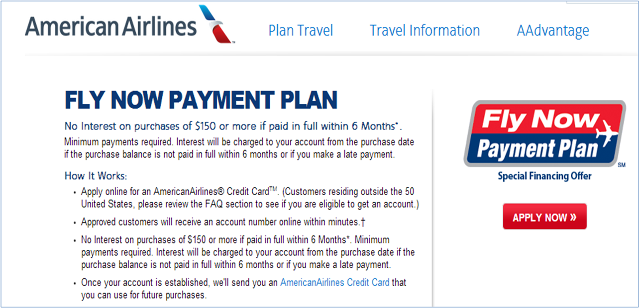 American Airlines Fly Now Program Buying Furniture Bad Credit How To Clean Furniture