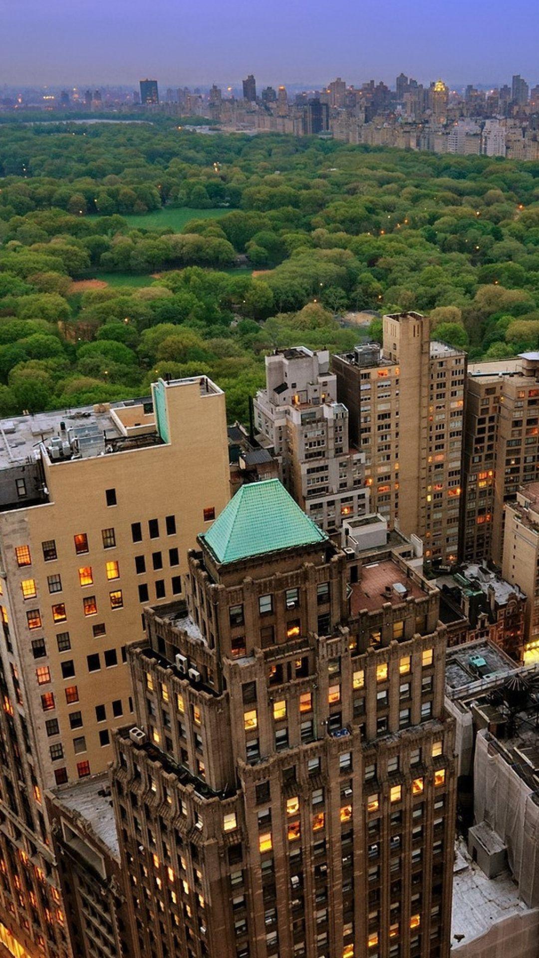 new york, manhattan, skyscrapers, central park
