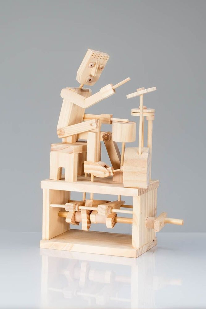 Timberkits Self-Assembly Wooden Construction Moving Model Kit The Magician
