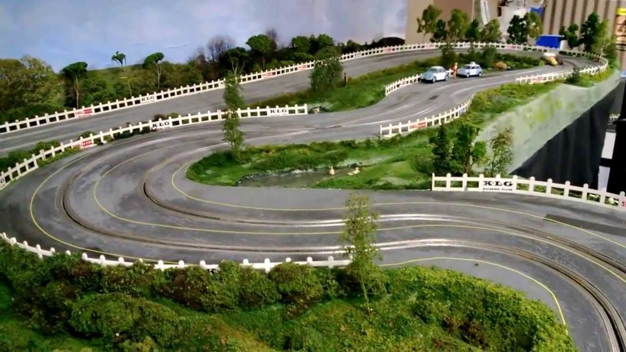 1 32 Wooden Routed Slot Car Track 1960 S Theme Scalextric C37 Spanis Slot Cars Slot Car Tracks Slot Car Track