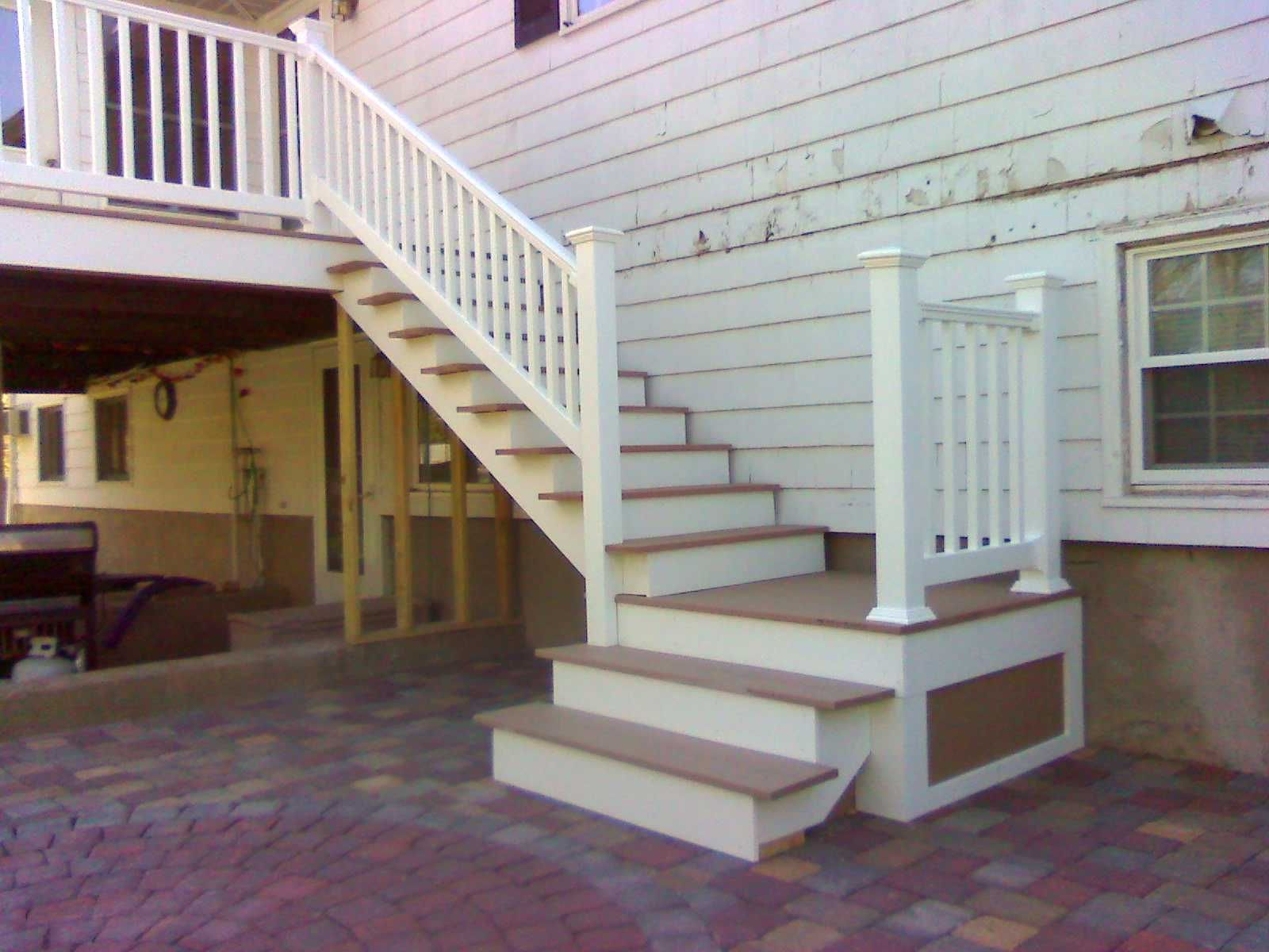 deck stairs to patio home diy pinterest deck stairs decking and