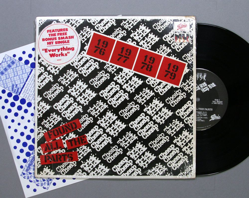 Cheap Trick Found All The Parts 10 Inch Vinyl Ep Record Album 1980 Cheap Trick Used Vinyl Records Record Album