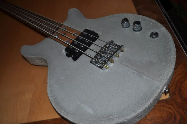The Guitar Garage Concrete Bass Prototype What Is Heavier Than Metal Guitar Garage Concrete Guitar