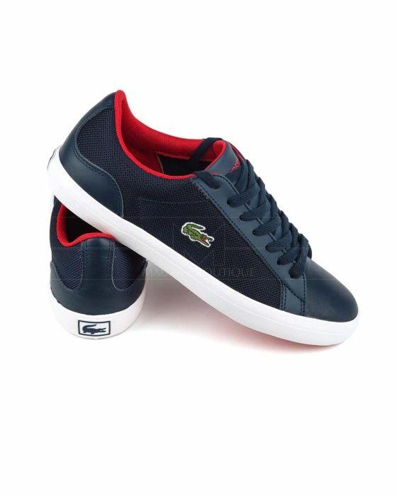 Lacoste Polo Lacoste Sport Blanco Azul Y Coral Zapatillas Lacoste Zapatos Lacoste Zapatos Hombre