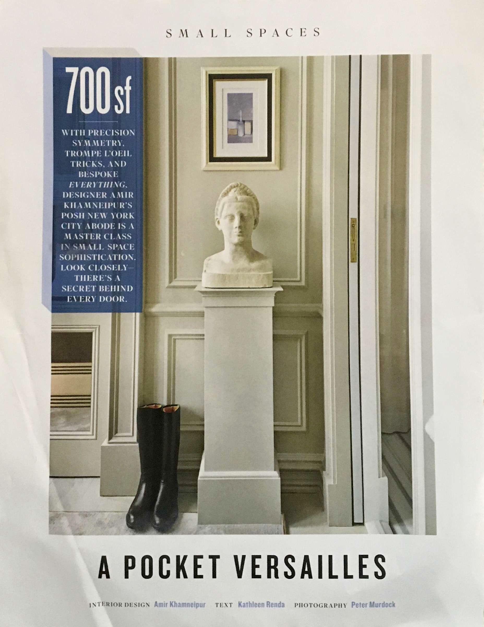 A Pocket Versailles Interior Designer Amir Khamneipur Text