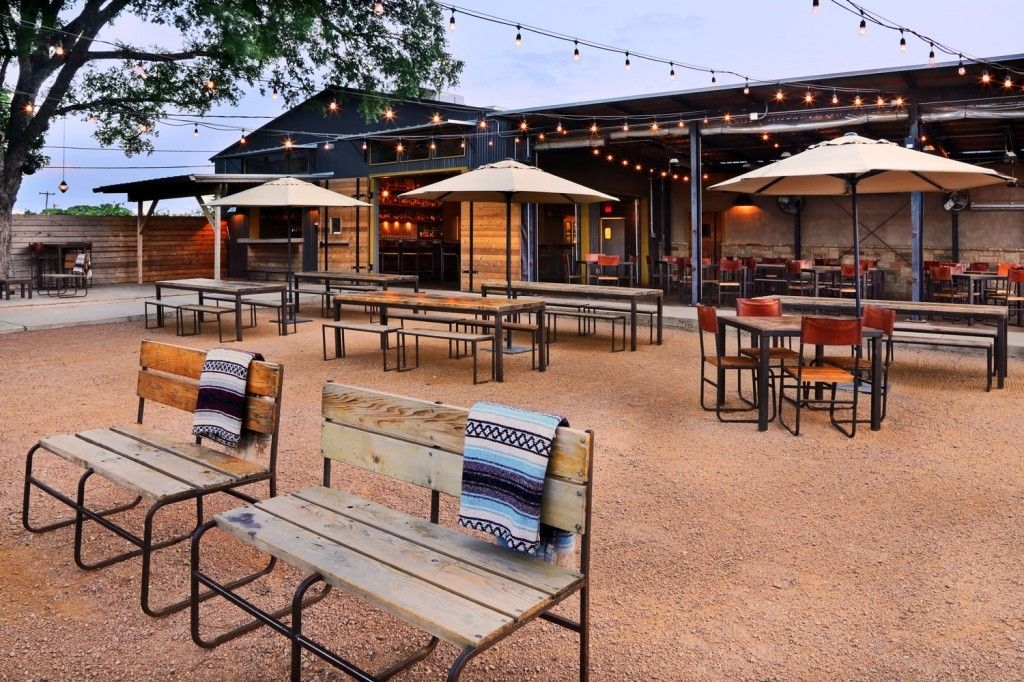 Outdoor Area At Contigo In Mueller Best Restaurants Austin Tx