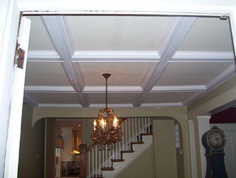 Coffered ceiling diy kitchen renovation coffered