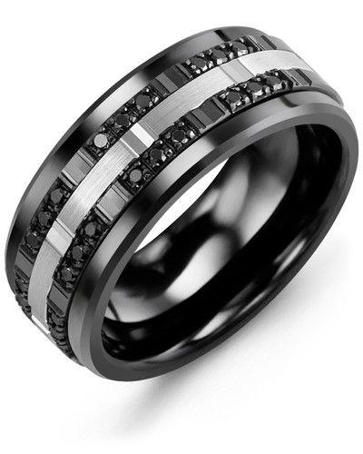 d60cb77a3151 Men s   Women s Black Ceramic   White Black Gold + 24 Black Diamonds tcw.