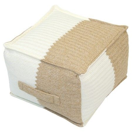 Outdoor Woven Pouf Natural Cream Threshold™ Target Homey Mesmerizing Target Outdoor Pouf